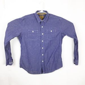 Stapleford blue chambray speckle button down shirt